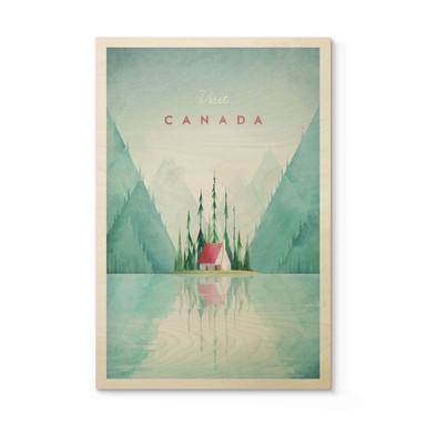 Holzposter Rivers - Kanada