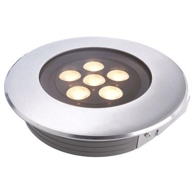 LED Bodeneinbauleuchte Flat I in Silber 11W 3000K IP67