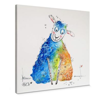 Leinwandbild Hagenmeyer - Happy Sheep
