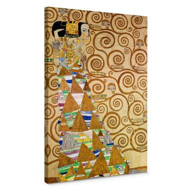Leinwandbild Klimt - Die Erwartung