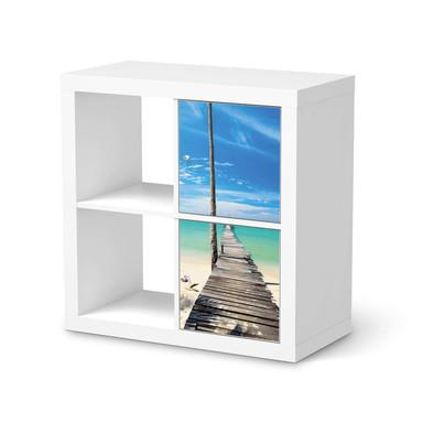 Möbelfolie IKEA Kallax Regal 2 Türen (hoch) - Blue Water