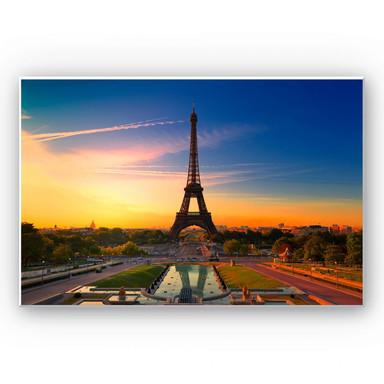 Wandbild Eiffelturm im Sonnenuntergang