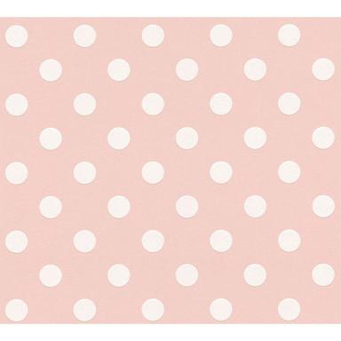 A.S. Création Vliestapete Boys & Girls 6 Tapete gepunktet rosa, weiss