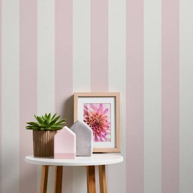 A.S. Création Vliestapete Trendwall 2 Streifentapete gestreift rosa, weiss