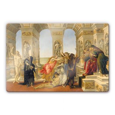 Glasbild Botticelli - Die Verleumdung des Apelles
