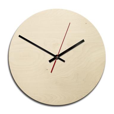Holz-Wanduhr - Blanko - rund