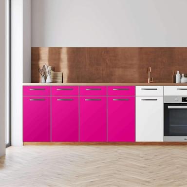 Küchenfolie - Unterschrank 160cm Breite - Pink Dark
