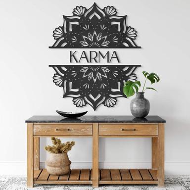 MDF - Holzdeko - Mandala Karma