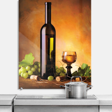 Spritzschutz Weisswein - hochkant