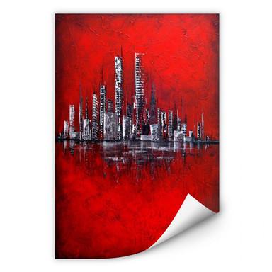 Wallprint Fedrau - Rot
