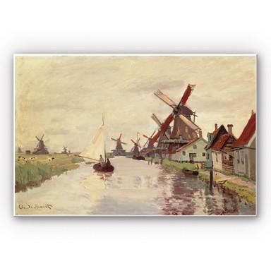Wandbild Monet - Holländische Landschaft mit Windmühlen