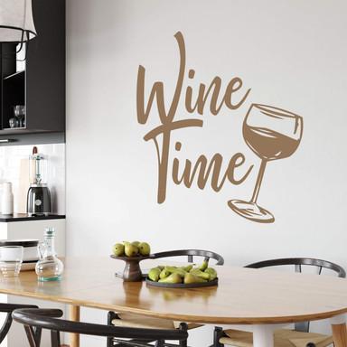 Wandtattoo Wine Time