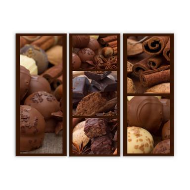 Acrylglasbild Schokoladentraum (3-teilig)