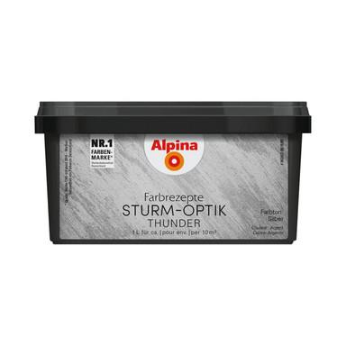 Alpina Farbrezepte STURM-OPTIK Silber - 1 Liter - Bild 1