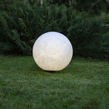 Gartenkugel Gardenlight in Weiss-Grau E27 500 mm