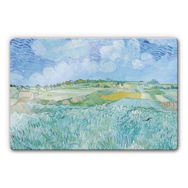 Glasbild van Gogh - Die Ebene bei Auvers