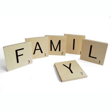 Holzbuchstaben Buchstabensteine Family