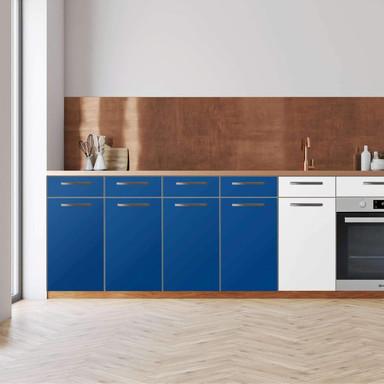 Küchenfolie - Unterschrank 160cm Breite - Blau Dark