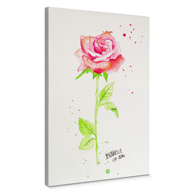 Leinwandbild Buttafly - Rose