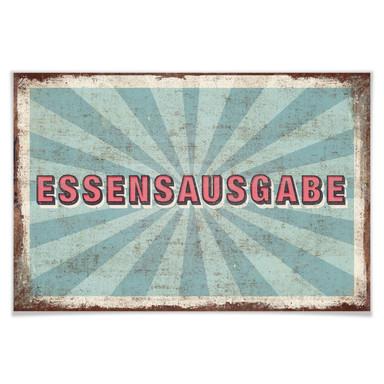 Poster Essensausgabe