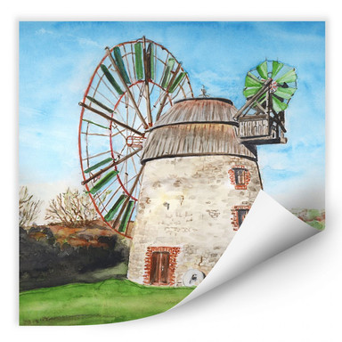 Wallprint Toetzke - Holländerwindmühle - quadratisch