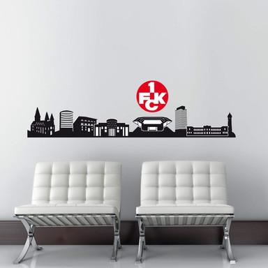 Wandtattoo 1.FC Kaiserslautern Skyline mit Logo farbig