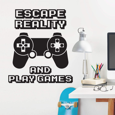 Wandtattoo Escape reality and play games
