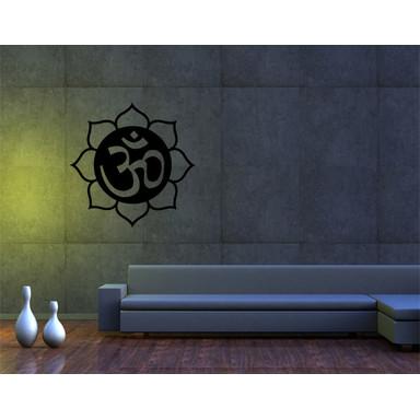 Wandtattoo Om-Zeichen in Lotusblüte II