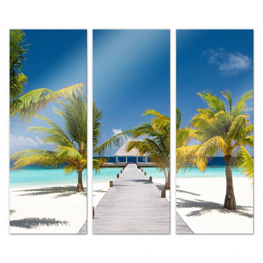Acrylglasbild Der Weg ins Paradies (3-teilig)