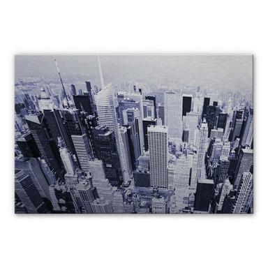 Alu Dibond Bild Manhattan Luftbild