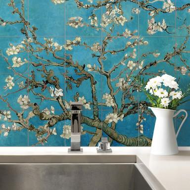 Fliesenaufkleber van Gogh - Mandelblüte