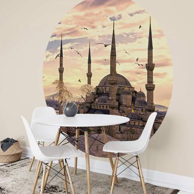 Fototapete Blaue Moschee - Rund