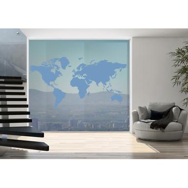 Glasdekor Weltkarte