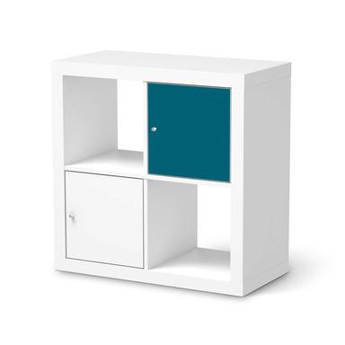 Klebefolie IKEA Expedit Regal Tür einzeln - Türkisgrün Dark- Bild 1