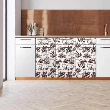Küchenfolie - Unterschrank 120cm Breite - Spices