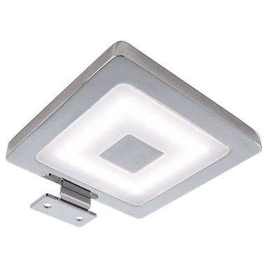 LED Möbelaufbauleuchte Spiegel Eckig in Silber-Satiniert und Chrom 4.5W 300lm IP44
