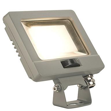 LED Strahler Spoodi mit Bewegungsmelder in Silbergrau 11W 800lm 3000K