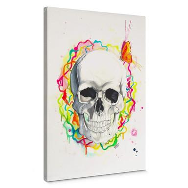 Leinwandbild Buttafly - Skull