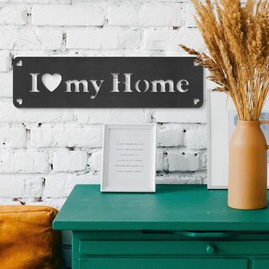 MDF - Holzdeko I love my home