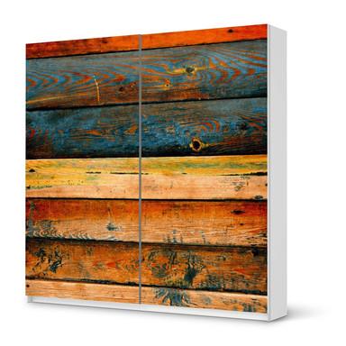 Möbel Klebefolie IKEA Pax Schrank 201cm Höhe - Schiebetür - Wooden- Bild 1