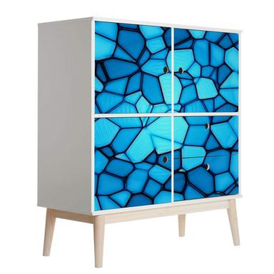 Möbelfolie, Dekofolie - abwischbar - Blaues Mosaik