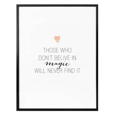 Poster Confetti & Cream - Believe in magic