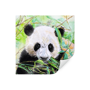 Poster Toetzke - Pandabär - quadratisch