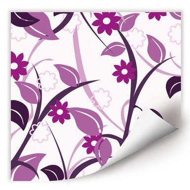 Wallprint Blumengarten rosa
