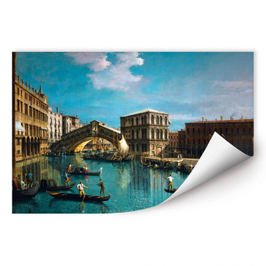 Wallprint Canaletto - Die Rialtobrücke in Venedig