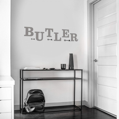 Wandtattoo Butler + 3 Haken