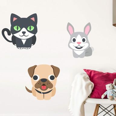 Wandtattoo Emoji Pets