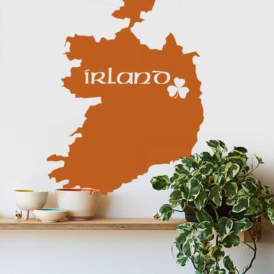 Wandtattoo Irland Karte