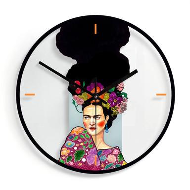 Wanduhr aus Glas - Hülya - Frida Ø30cm - Bild 1