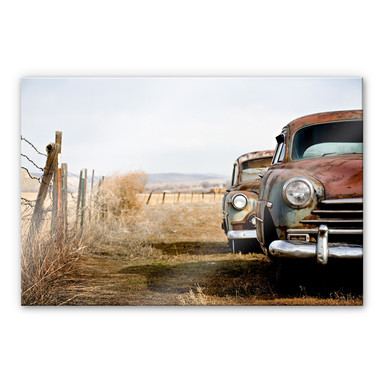 Acrylglasbild XXL Old Rusted Cars